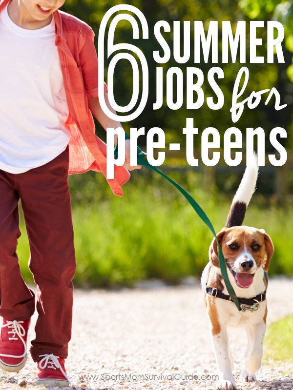 Use this list of 6 Summer Jobs for Pre-Teens to help your child decide on ways they can earn money in order to learn money management.