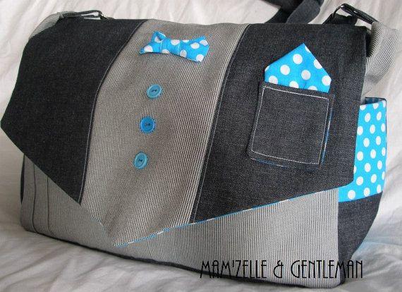 little boy Diapers bag Gentleman by MamZelleGentleman on Etsy, $70.00