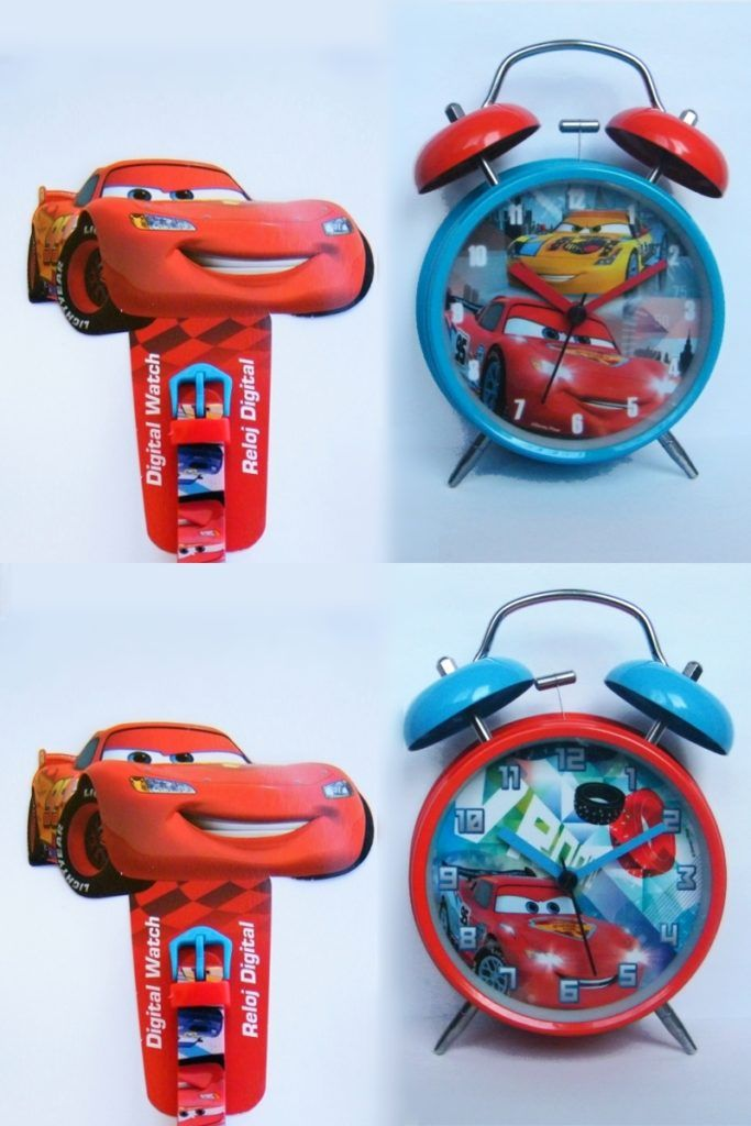 Original DISNEY alarm clocks for kids - Lightning McQueen from CARS #watch #disney Oryginalne budziki Disneya dla dzieci - Zygzak McQueen z bajki AUTA