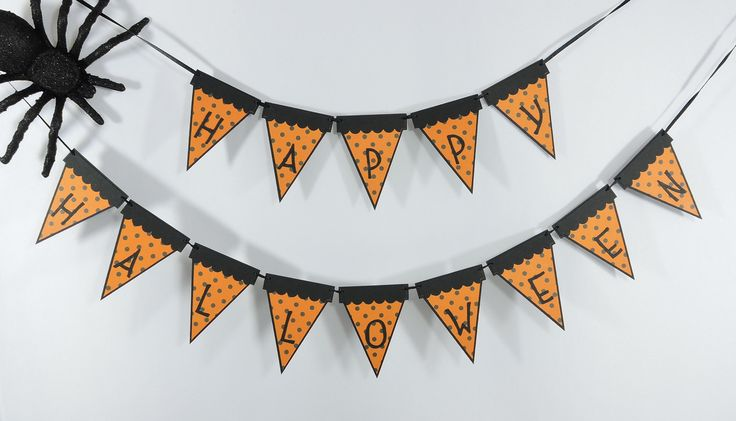 Happy Halloween Banner - Mini Banner for Halloween Party Decor - Halloween Photo Props - Happy Halloween Decor by MeadowsBrook on Etsy
