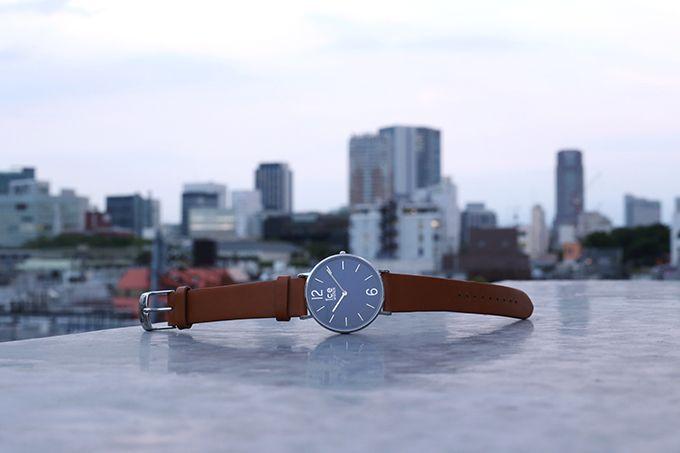 アイスウォッチからクラシックな時計「アイスシティタンナー」なめらか質感の牛ヌメ革ベルトの写真2