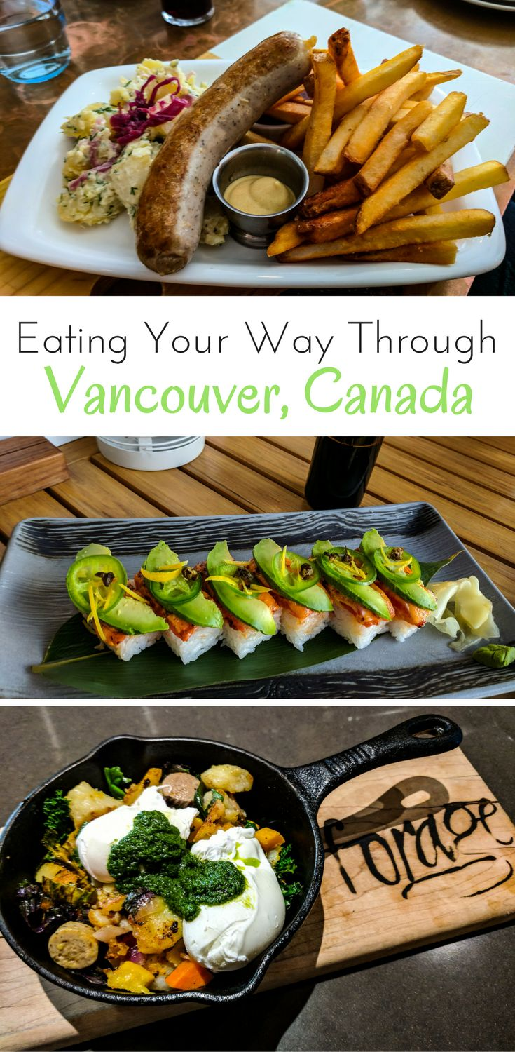 The can't miss places for when you're eating your way around Vancouver, Canada. Where to eat in Vancouver. What to do in British Colombia.