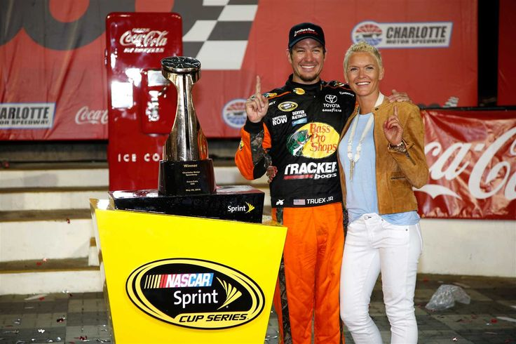 At-track photos: Sunday, Charlotte:    Monday, May 30, 2016  -   Truex poses in Victory Lane with longtime girlfriend Sherry Pollex.