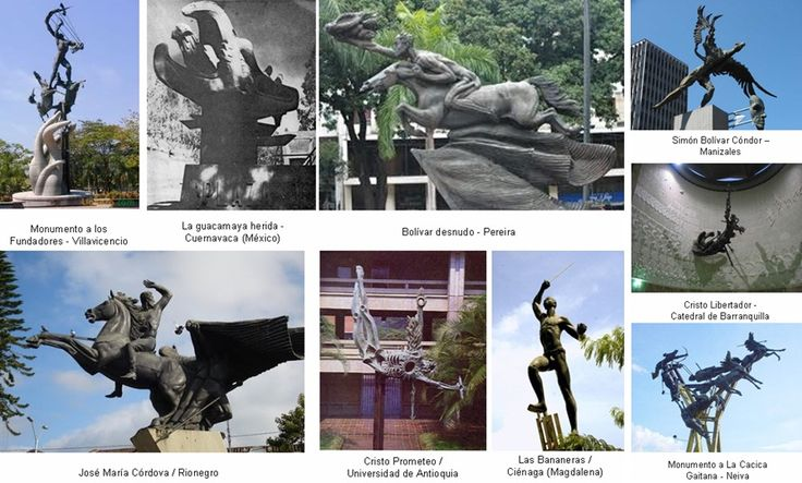 "El maestro Rodrigo Arenas Betancourt describía esta obra en bronce como un ""Bolívar-Prometeo"", un símbolo de libertad. Es la única representación de Simón Bolívar sin ropa, espada, o medallas a nivel mundial. http://melanimsas.blogspot.com.co/2016/10/arenas-betancourt-arte-colombiano.html"