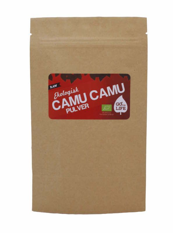 Camu camu (Eko & Raw)  Camu camu, som härstammar från Amazonas djungler, slog för ett tag sedan ned som en bomb som skakade om hela hälsokostvärlden – den är nästan bokstavligt talat en vitaminbomb då den visat sig ha den högsta naturliga c-vitaminhalten på jordklotet! http://goforlife.se/