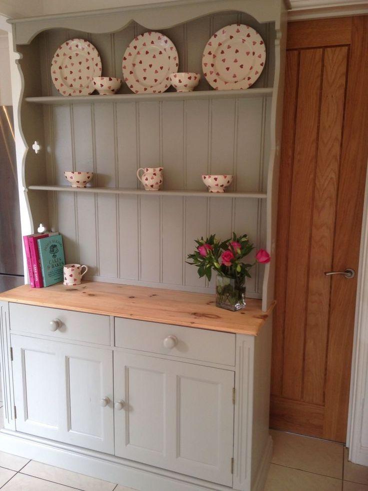 Farmhouse Welsh Dresser Pine Storage Cupboard Kitchen Shabby Chic