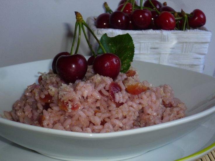 rice and cherries, risotto alle ciliegie