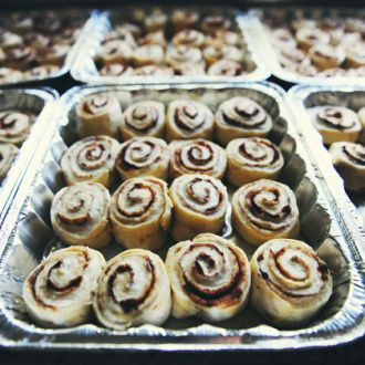 Hey! I have a great idea. Why not start a holiday tradition of delivering these delicious cinnamon rolls to your friends and cohorts? Growing up, my mom always made them for her good friends at Chr...