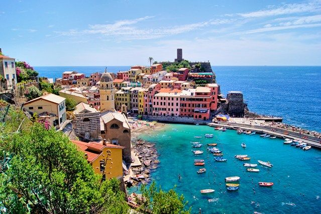 Vernazza, Liguria, on Italy's Cinque Terre – and we know the greatest little (affordable) boutique hotel to stay at here (click through to find out where)...