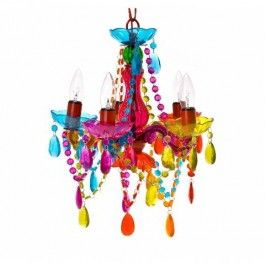 Multi Coloured Small Gypsy Chandelier £75