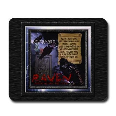 Edgar Allan Poes The Raven - Mousepad on CafePress.com