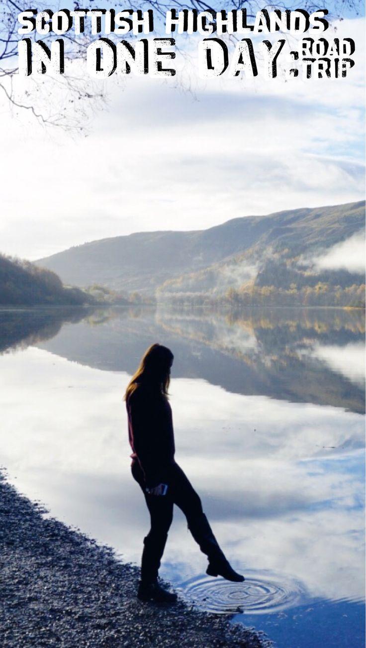 Scottish Highlands in one day: road trip around Scotland. Loch Lubnaig.