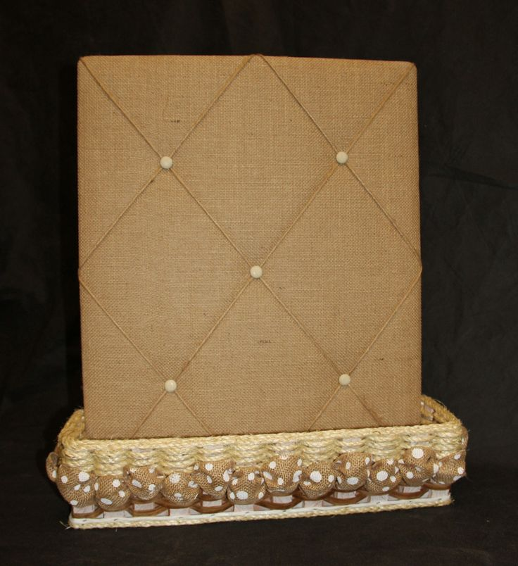 Shabby Chic Collection--Burlap Message Board