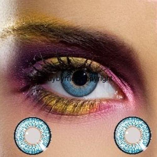 82483 lentille de couleur BLEU saphire lens color blue colored contact us lenses