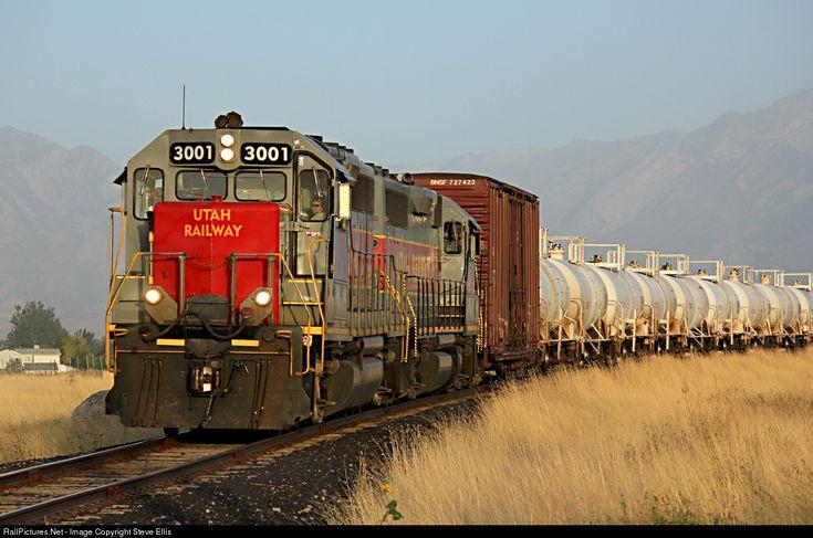RailPictures.Net Photo: Utah 3001 Utah Railway Company EMD GP40 at Kearns, Utah by Steve Ellis