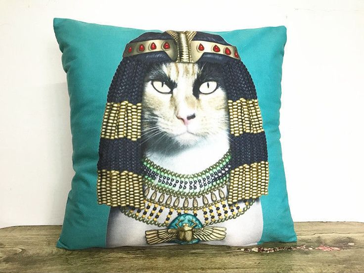 "CAT CUSHION COVER - 18 x 18"" inches in size  CUTE CAT - GIFTS -CUSHION -"