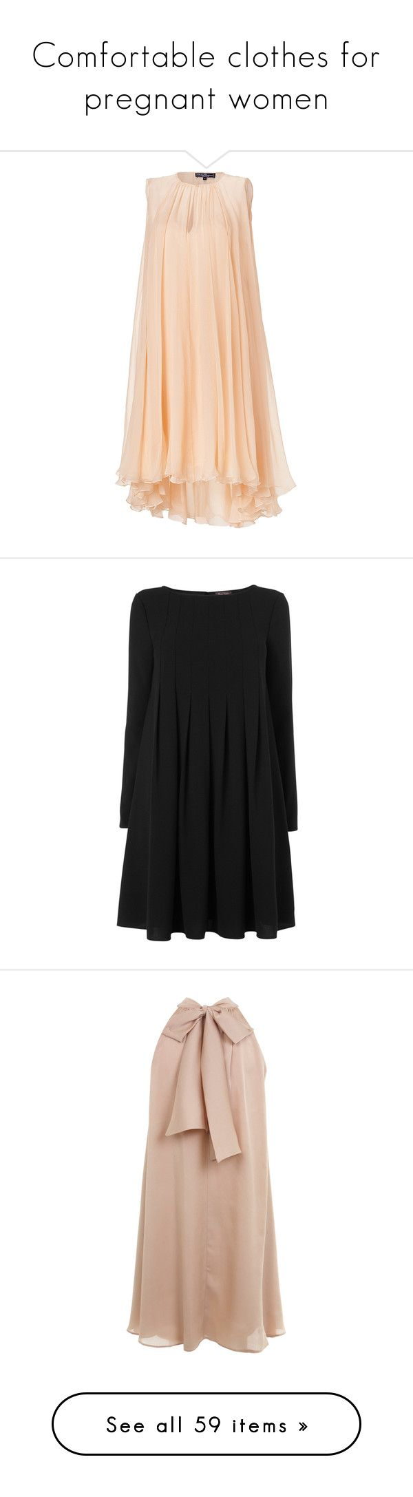"""""""Comfortable clothes for pregnant women"""" by adore-fashionn ❤ liked on Polyvore featuring dresses, vestidos, robe, red holiday dress, cocktail dresses, sleeveless cocktail dress, sheer cocktail dress, red dress, robes and pleated sleeve dress"""