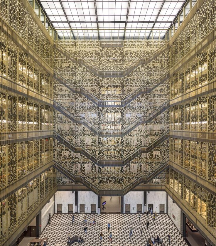 NYU Bobst Library Pixel Veil By Joel Sanders Architect, New York City