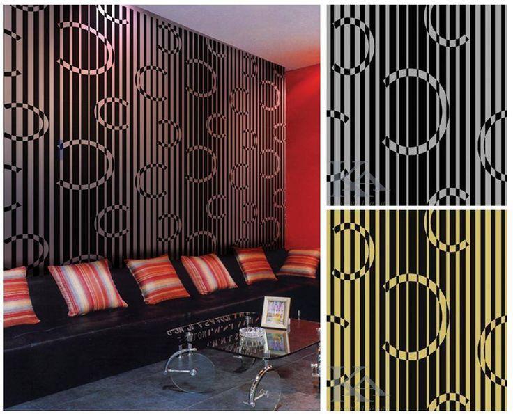 Tapetul Monogram este modern si electrizant!  Racomandat pentru cafenele si restaurant.  #geometricwallpaper, #modernwallpaper