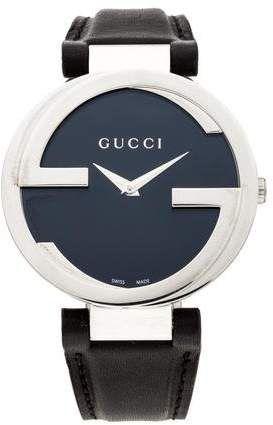 3a70f923d5b Stainless steel 37mm Gucci Interlocking G watch featuring a quartz  movement