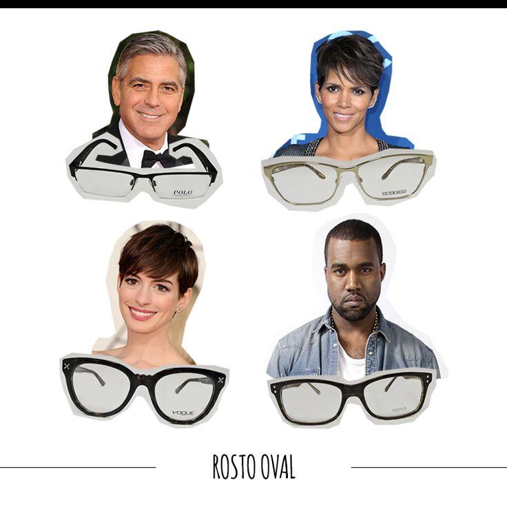 Quem tem rosto oval pode usar praticamente qualquer tipo de armação arredondada e retangular. O único cuidado é na escolha de óculos não muito largos, já que o rosto ficaria ainda maior. #FashionSSJ #tiposdeoculos #sunglasses