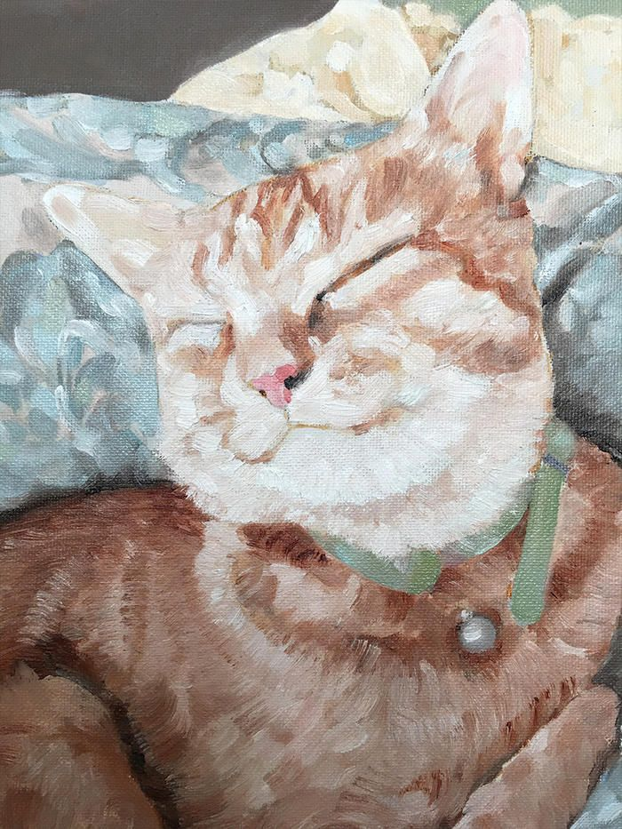 'Harry in Repose' Original oil painting by Donna Christiewww.thesocietyofgoodeggs.com
