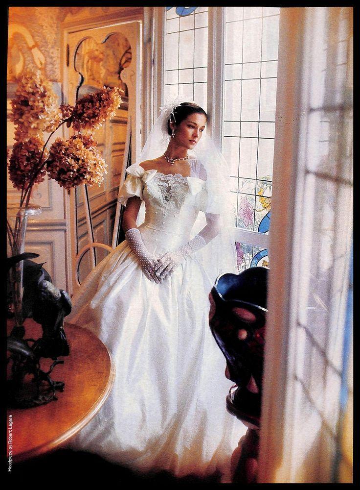 Details about 1987 Frank Masandrea Diamond Wedding Dresses