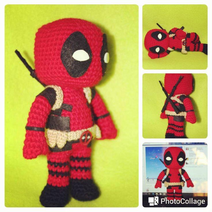 """39 Likes, 5 Comments - Cris (@lasmilagujas) on Instagram: """"Otra tanda de Deadpools amigurumi en proceso!  More Deadpool amugurumi con process!  #amigurumi…"""""""