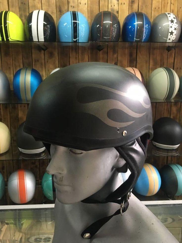 Harley Davidson Custom Motorcycle Half Helmet With Iron 883 Style #Unbranded #Motorcycle