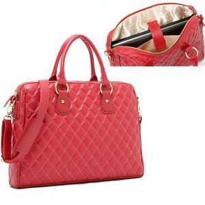 Az új-Women-aktatáskák-14-Laptop-táska-kézitáskák-váll-Tote Bag-Red-PU-bőr