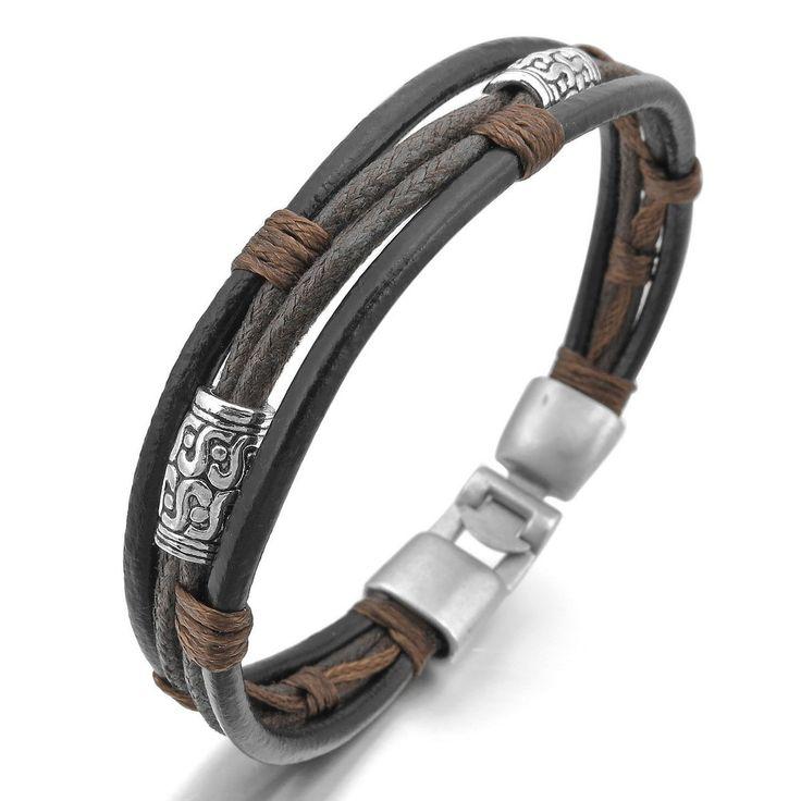 Lederarmband für damen braun  Die besten 25+ Herren Lederarmbänder Ideen auf Pinterest   Armband ...
