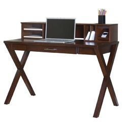 kathy ireland Home by Martin Furniture Worx Wood Veneer Office Laptop / Writing Desk