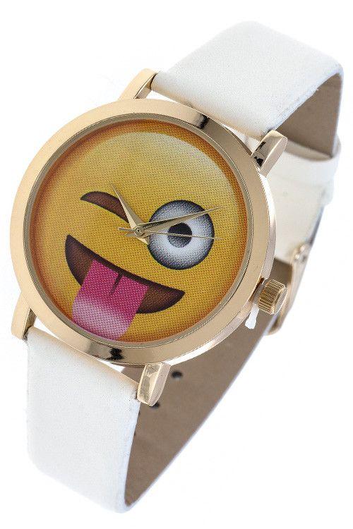 {Tongue Emoji Sticking Out Watch}