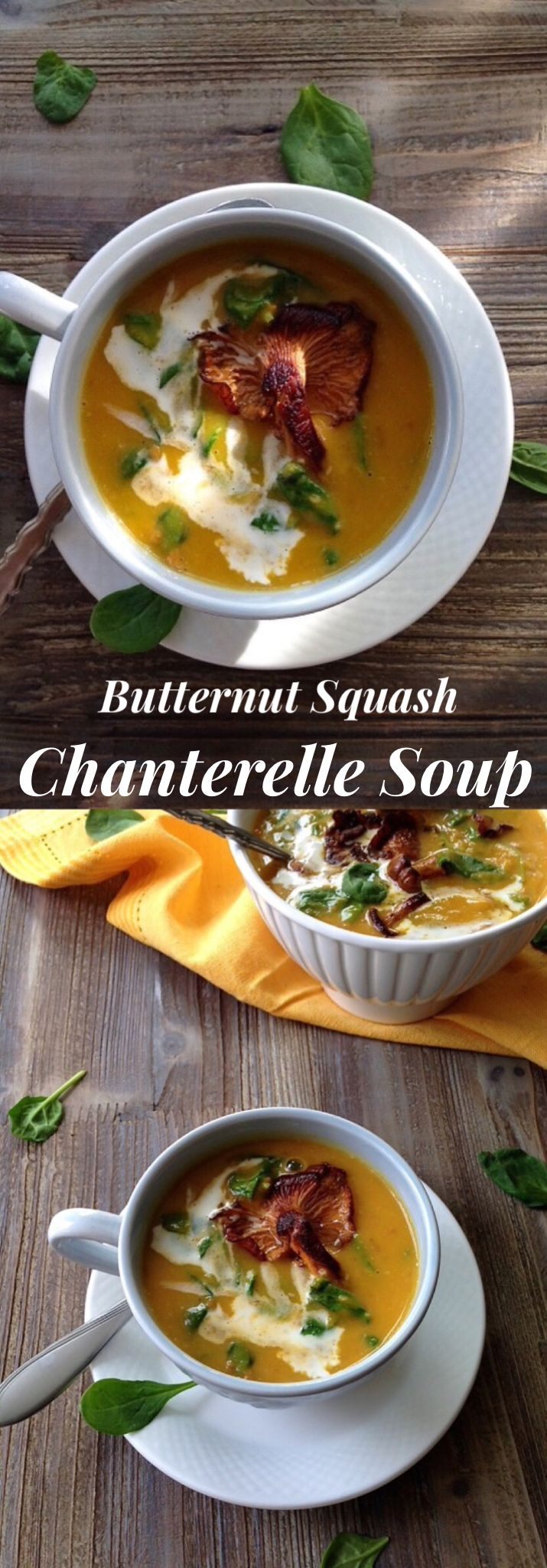 Butternut Squash Chanterelle Soup Recipe | CiaoFlorentina.com @CiaoFlorentina