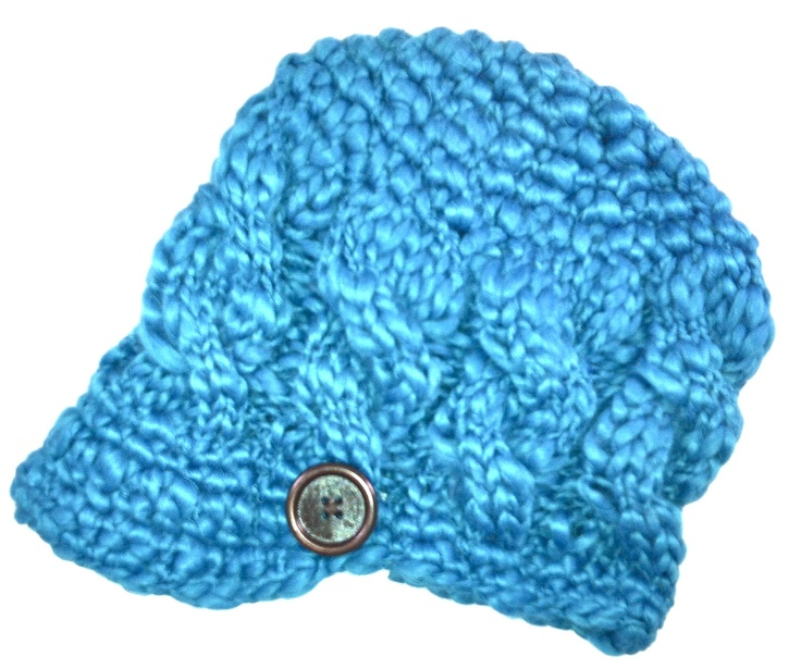 Haute mama toasty brim in Toasty Teal.  www.hautetots.ca $30
