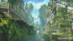 Overgrown city