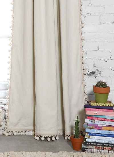 pom pom blackout curtains navy blue blackout pompom curtain romis room pinterest urban bedrooms and interiors