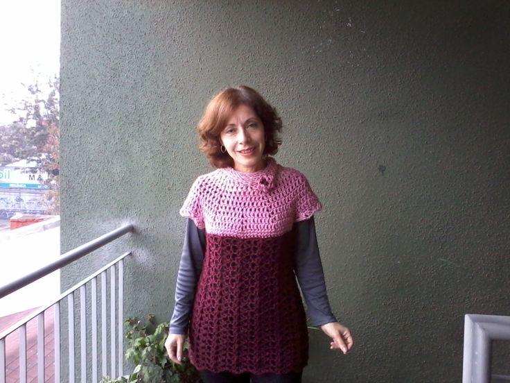 Otro mini vestido en rosa y burdeo