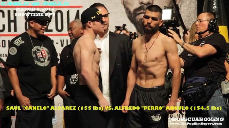 CANELO ALVAREZ VS. ALFREDO ANGULO Official Weigh-In from the MGM Grand in Las Vegas!