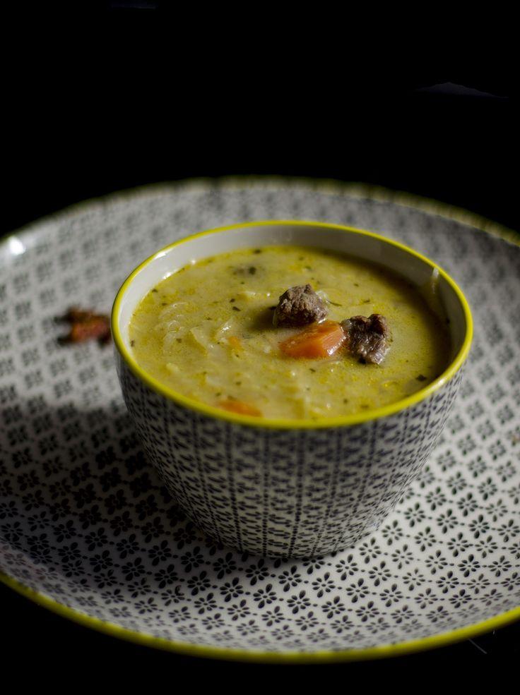 Tárkonyos savanyú káposzta leves - Fűszeres Eszter