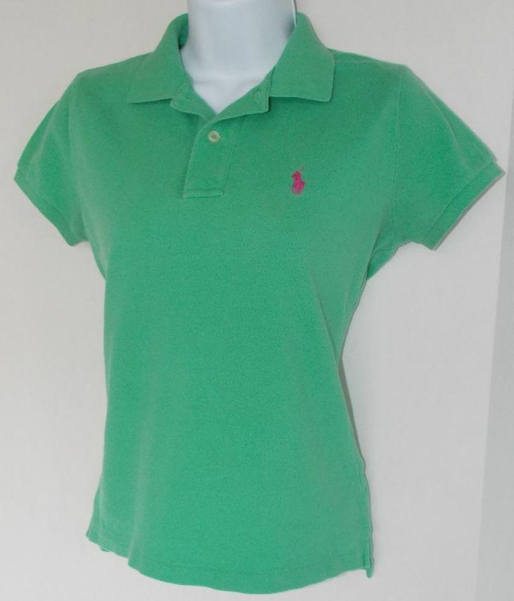 Ralph Lauren Black Polo Logo Breathabl Green Short Sleeved