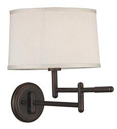 Modern Space-Saving Swing-Arm Wall-Mounted Reading Lamp