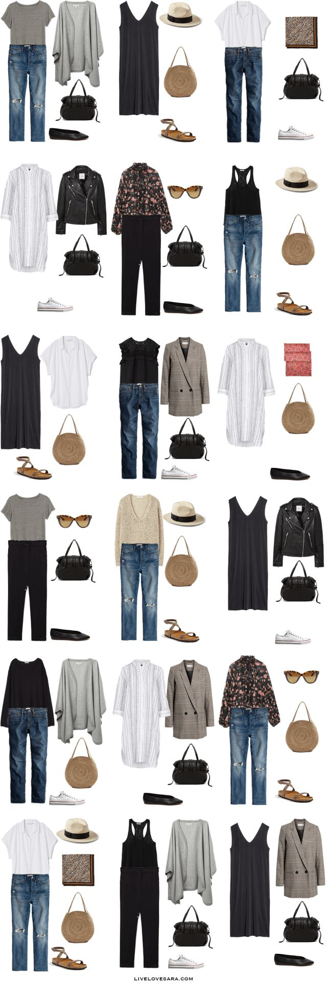 51 best 2018 Travel Capsule Wardrobes and Outfits images ...