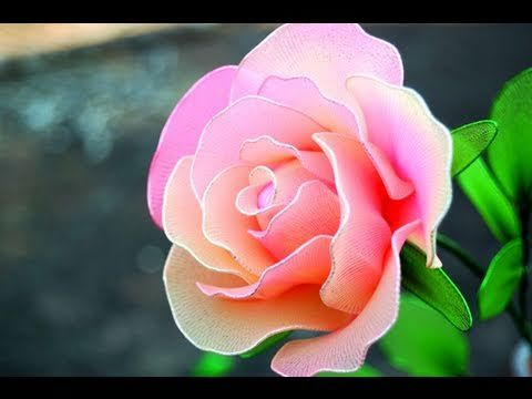 DIY Instruction: How To Make a Rose from Nylon Stocking - DIY Wedding Flower Idea