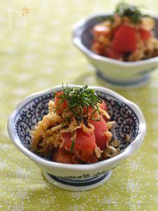 切り干し大根とトマトの塩昆布酢の物