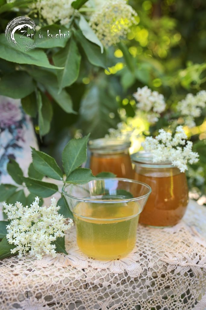 Syrop Z Kwiatow Czarnego Bzu Zen W Kuchni Recipe Drinks Alcoholic Drinks Alcohol
