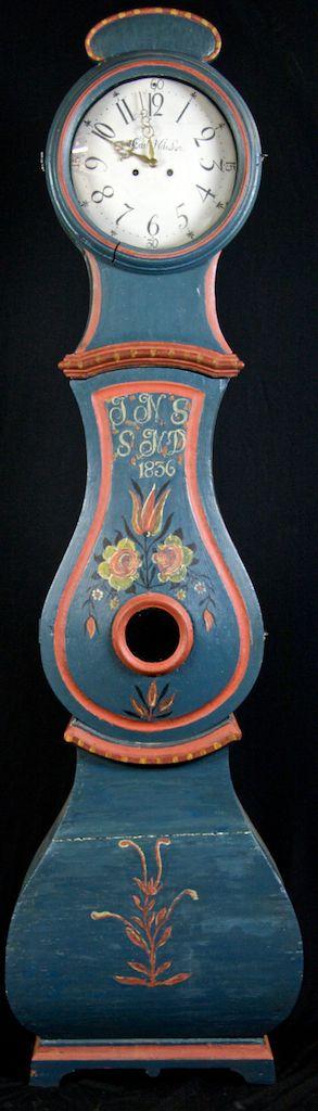 antique swedish 1800s mora clock