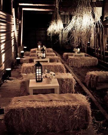 Seating Hay Bales. Need help with any aspects of wedding planning and styling? Visit www.rosetintmywedding.co.uk #rusticwedding #countrywedding #vintagewedding