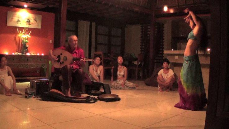 Belly-Dance / Ud improvisation in Bali - Free Ud improvisation for a live music session during last year Mishaal's Sacred Earth dance workshops @ Matahari, Ubud, Bali.