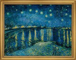 """Vincent van Gogh: Bild """"Sternennacht über der Rhône"""" (1888), gerahmt"""